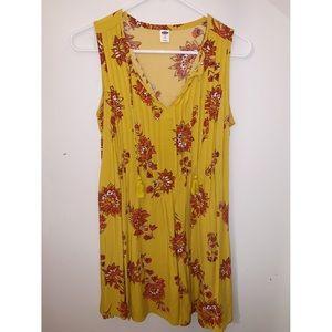 sun dress in mustard